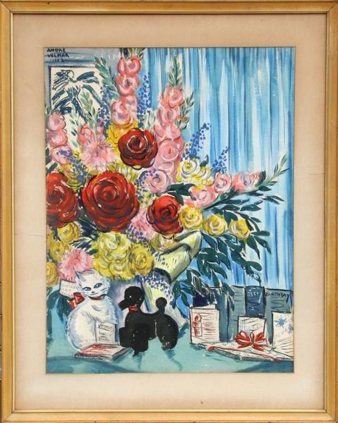 15: Andre Velmar, Birthday, Watercolor