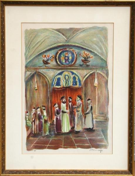 16: Joseph Kossonogi, Ceremony, Lithograph