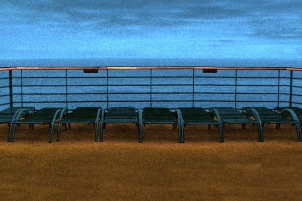 20: Bob Kolb, Deck Chairs, Giclee on Canvas