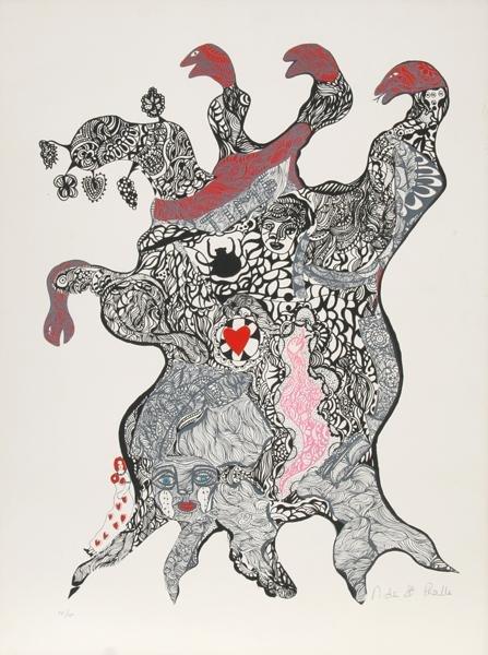 22: Niki de Saint Phalle, Surrealist Figure, Silkscreen