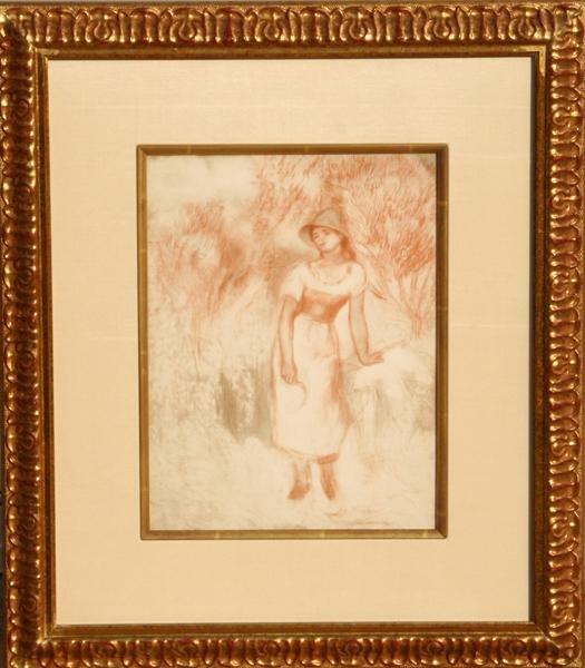 23: Pierre-Auguste Renoir, La Moissonneuse, Lithograph