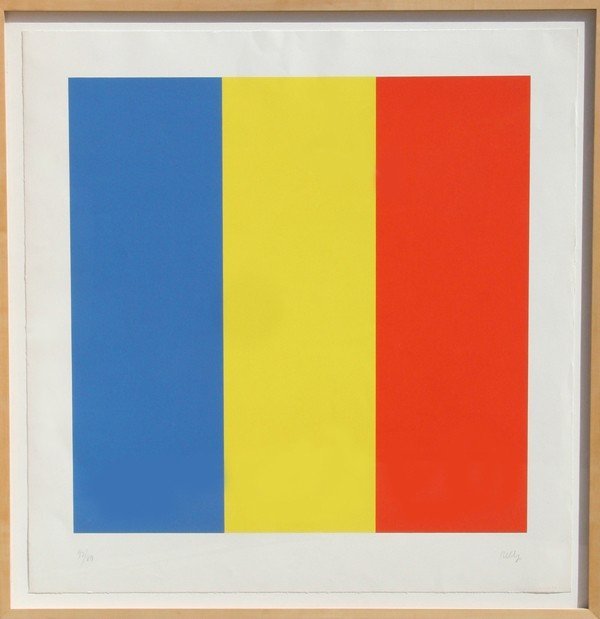 40: Ellsworth Kelly, Red, Yellow, Blue, Serigraph