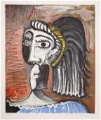 270: Pablo Picasso, Tete de Femme, Lithograph