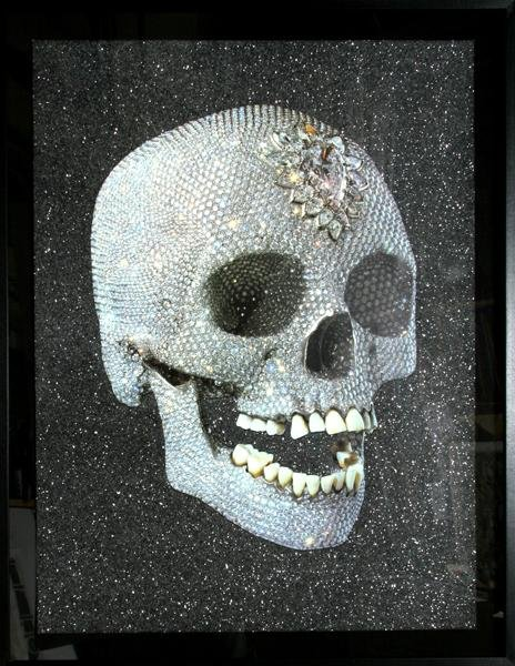 289: Damien Hirst, For the Love of God, Laugh, Silkscre