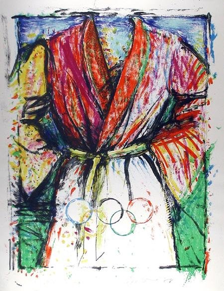 9: Jim Dine, Olympic Robe, Lithograph