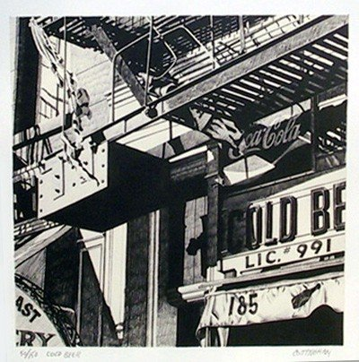 23: Robert Cottingham, Cold Beer, Lithograph