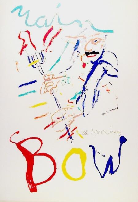 45: Willem de Kooning, Rainbow: Thelonius Monk, Lithogr