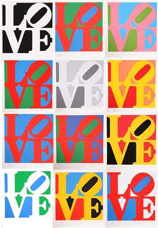 83: Robert Indiana, The Book of Love Portfolio with 12