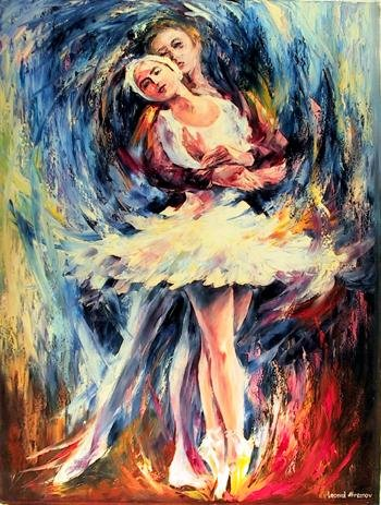 2: Leonid Afremov, Romeo and Juliet I, Oil Painting