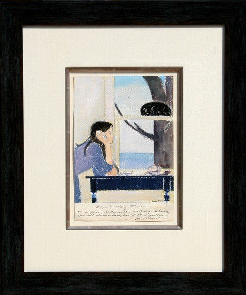 20: Will Barnet, Spirit of Youth, Watercolor and Pastel