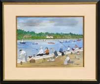 67: Vestie Davis, Coney Island Fisherman, Watercolor