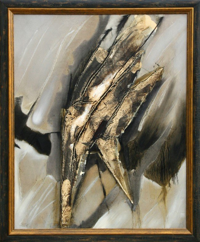 15: Enrique Zanartu, Abstract Oil Painting