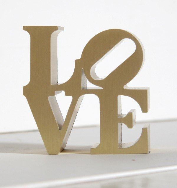 3: Robert Indiana, Gold Love, Aluminum Sculpture