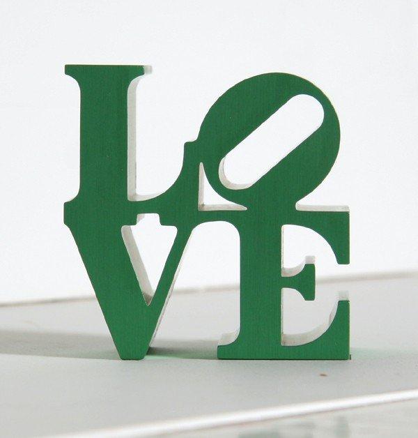 4: Robert Indiana, Green Love, Aluminum Sculpture