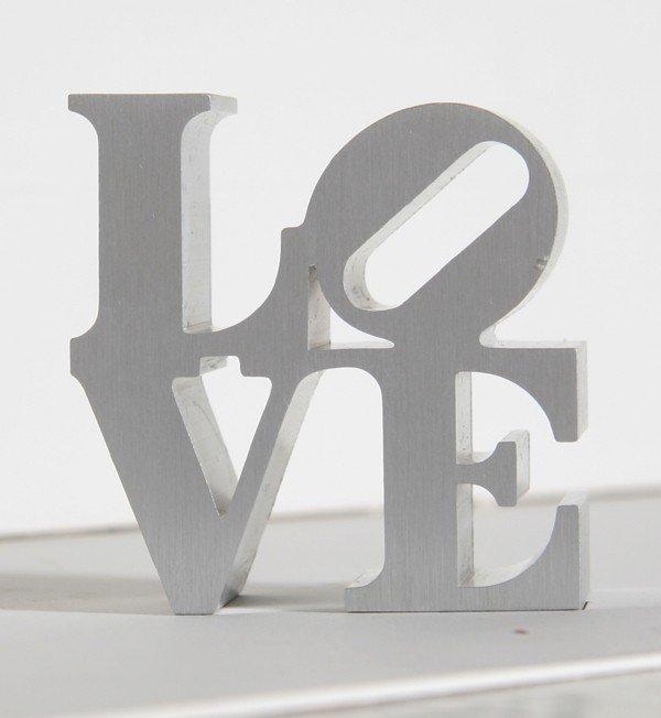 6: Robert Indiana, Silver Love, Aluminum Sculpture