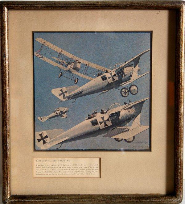 7: Merv Corning, Lot of 3 Airplane Lithographs