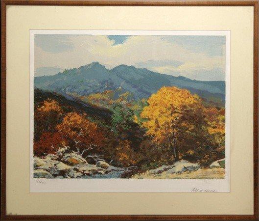 12: Robert Wood, Landscape 3, Lithograph
