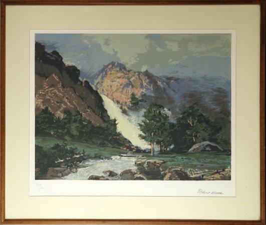 13: Robert Wood, Landscape 6, Lithograph