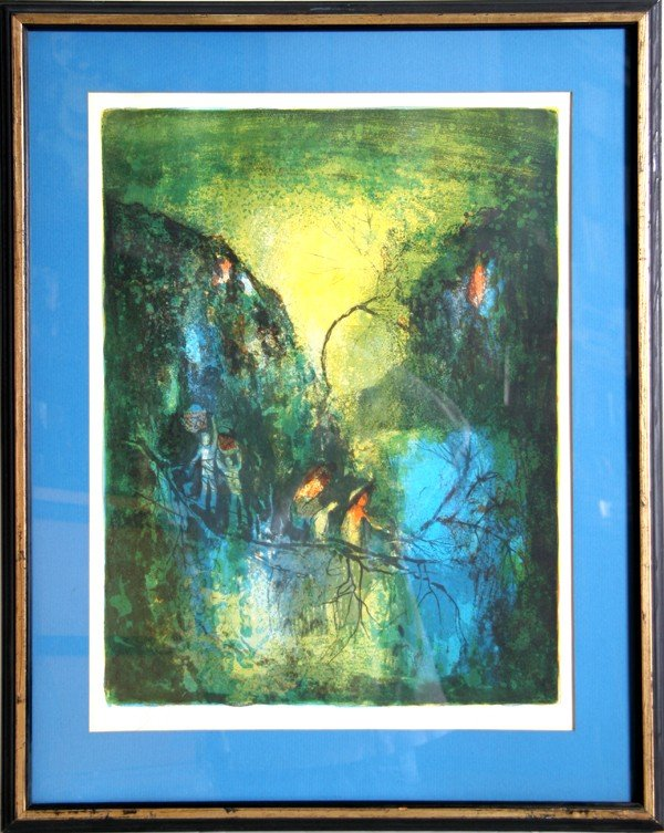 20: Hoi, Abstract Lithograph