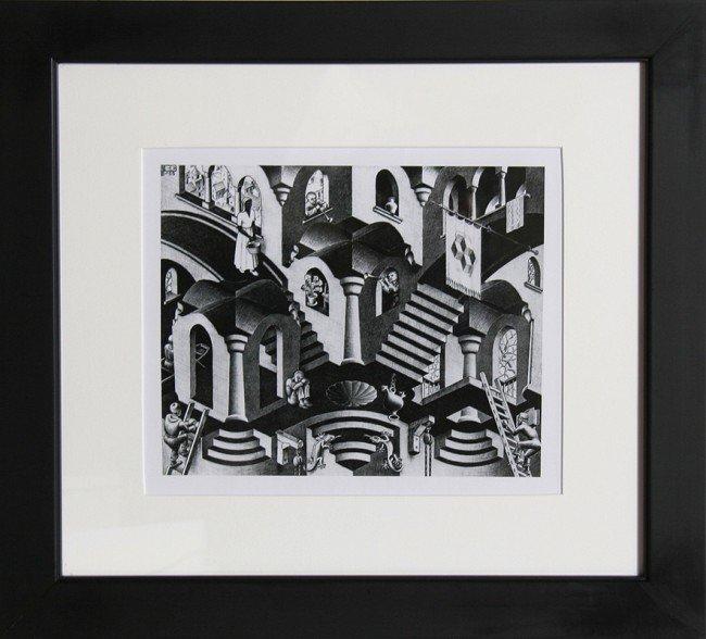 22: M.C. Escher, Concave & Convex, Poster