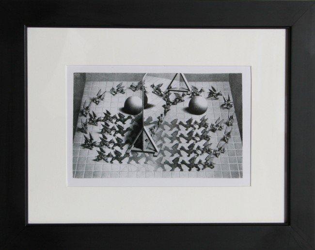 23: M.C. Escher, Magic Mirror, Poster