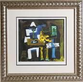284: Pablo Picasso, Three Musicians, Lithograph