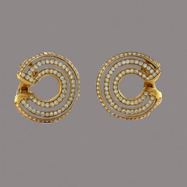 2: Poiray Paris Creole Diamond Earrings
