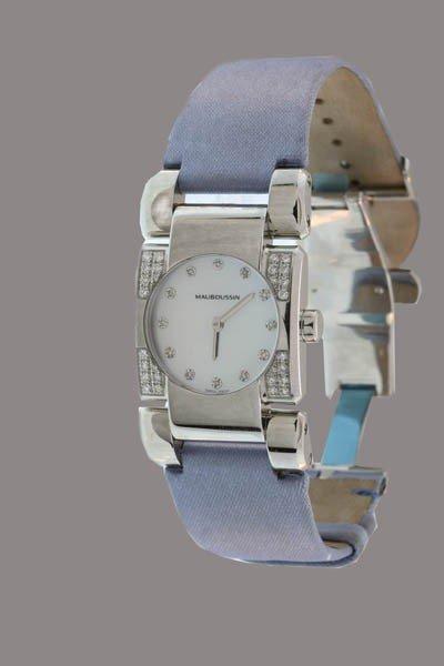 5: Mauboussin Paris Stainless Steel and Diamond Ladies