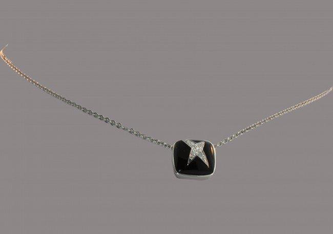 6: Mauboussin Paris Black Onyx Pendant with Diamond Sta