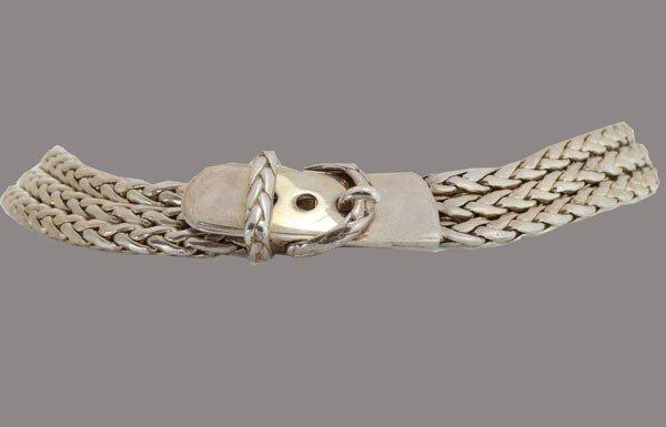 8: Hermes Vintage Paris Silver Buckle Necklace