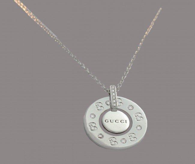 11: Gucci Italy White Gold Pendant