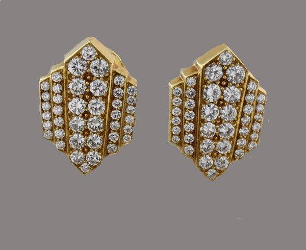 12: David Webb, Diamond and Gold Earclips