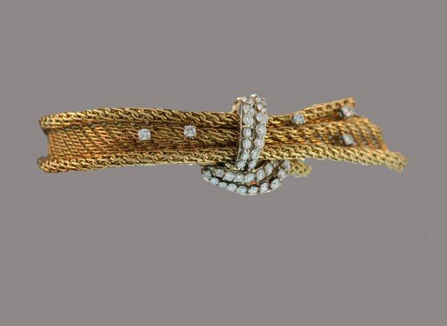 17: Vacheron Constantin, Woven Gold and Diamond Bracele
