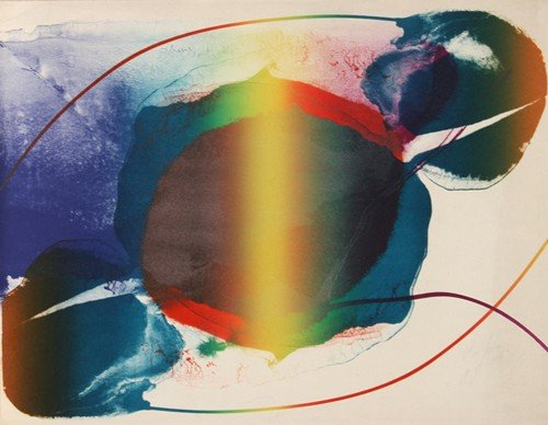 21: Paul Jenkins, Abstract Lithograph