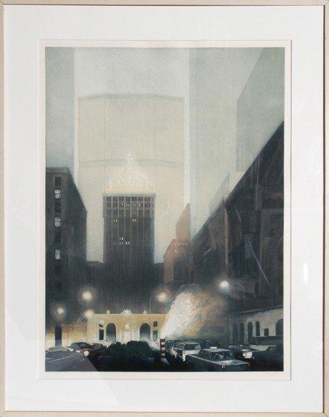 22: Richard Haas, Park Avenue, Helmsly, Pan Am, Etching
