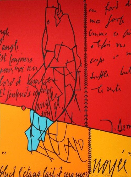 1: Valerio Adami, Noyee, Serigraph