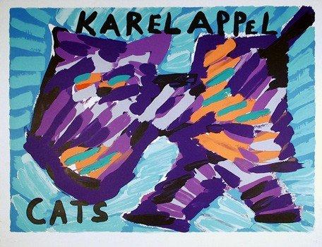 13: Karel Appel, Cats, Lithograph