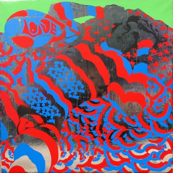 22: Richard Banks, Love, Silkscreen on Foil