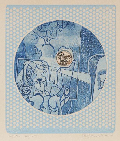 23: Martin Barooshian, Neptune, Intaglio Aquatint Etchi