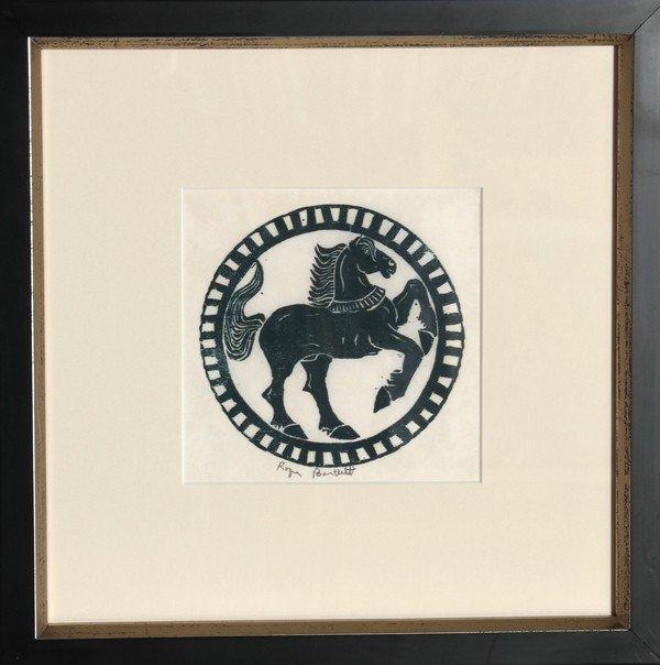 24: Roger Bartlett, Horse, Woodcut