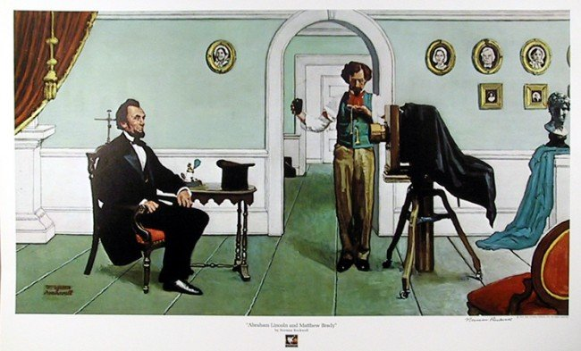 3: Norman Rockwell, Abraham Lincoln, Lithograph Poster