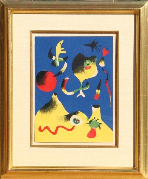 6: Joan Miro, Air, Lithograph