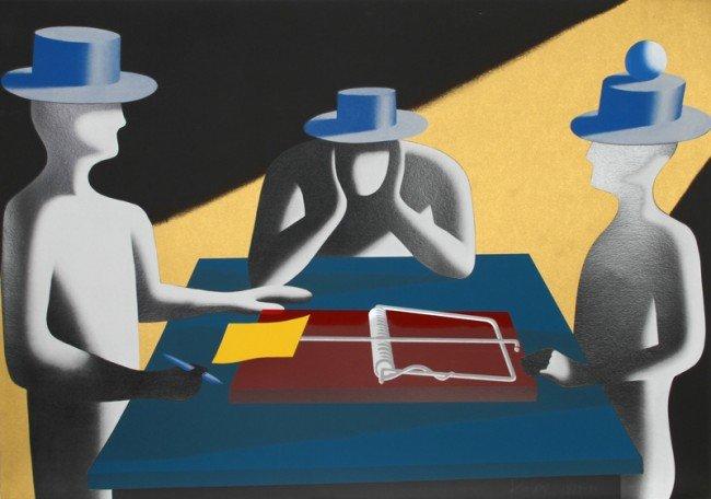 9: Mark Kostabi, Art of the Deal, Serigraph