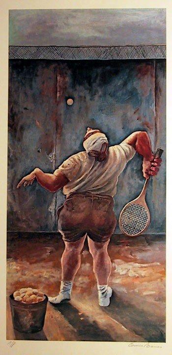 12: Ernie Barnes, At The Wall, Lithograph