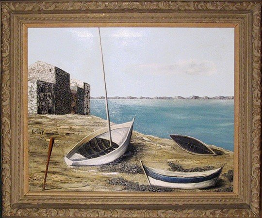 16: Alvaro Guillot, Bateaux, Oil Painting
