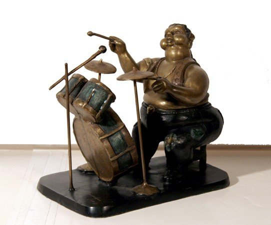 17: Bruno Luna, Baterista (Drummer), Bronze Sculpture