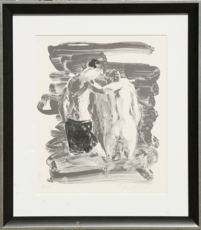 18: Eric Fischl, Bathers, Lithograph