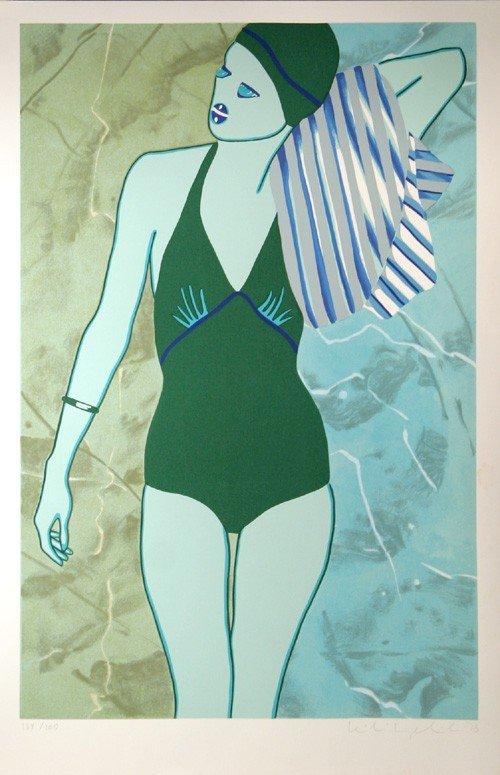 19: Kiki Kogelnik, Bathing in Green, Serigraph