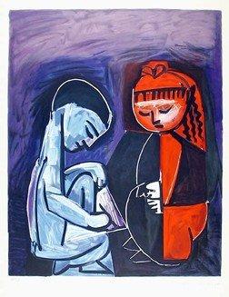 89: Pablo Picasso, Deux Enfants Claude et Paloma, Litho
