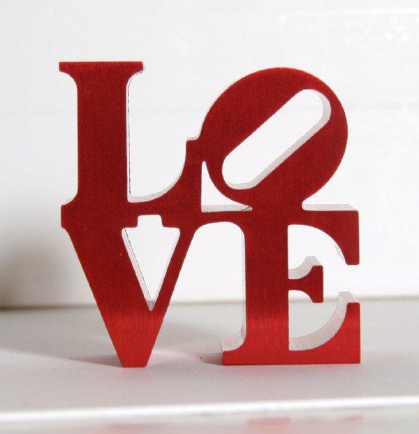216: Robert Indiana, Red Love, Aluminum Sculpture